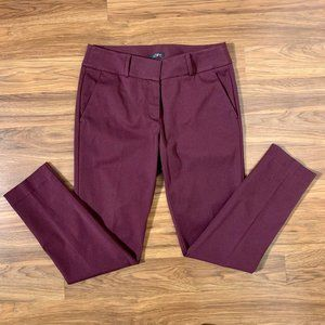 NWOT LOFT Julie Skinny Jeans Maroon